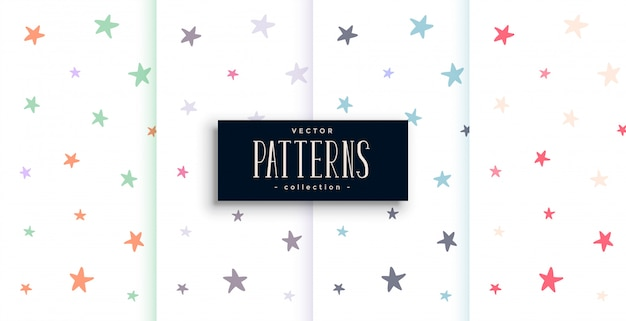 Set di pattern di stelle colorate
