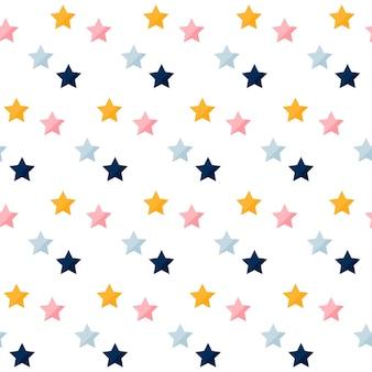 カラフルな星のシームレスなパターン