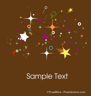 Colorato stelle forme biglietto di auguri
