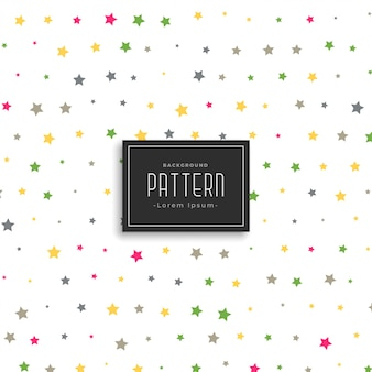 Colorful stars vector pattern background