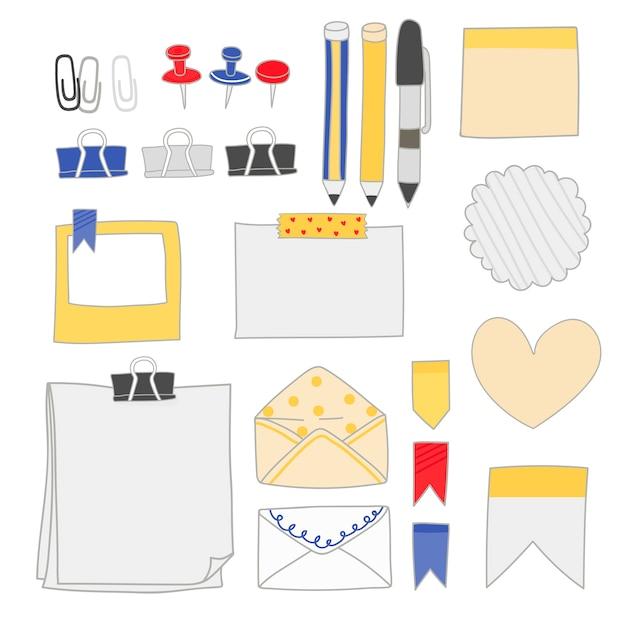 화려한 문구 용품 컬렉션