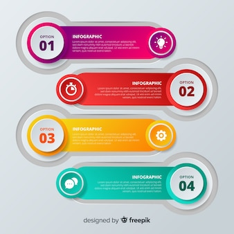 Colorful step infographic template