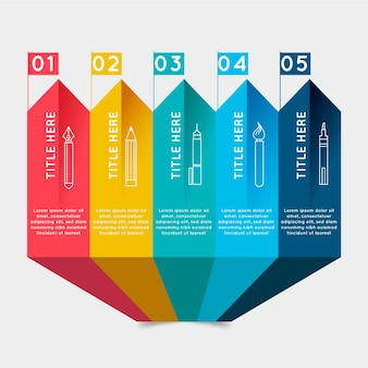 Colorful steps infographic template