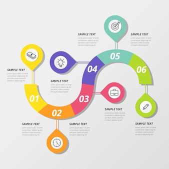 Infografica passaggi colorati
