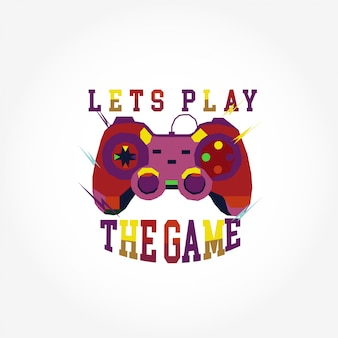 Colorful stick game vector for t shirt design
