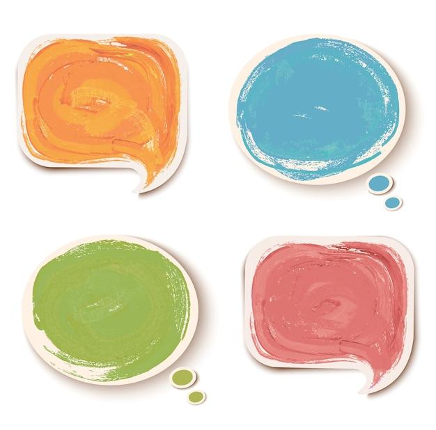 Красочные стикеры речи пузыри