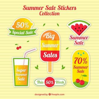 여름 판매를위한 다채로운 스티커