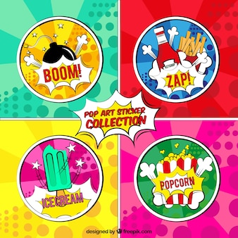 Colorful stickers with modern style