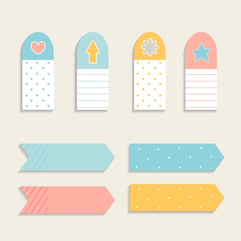 Colorful sticky note set