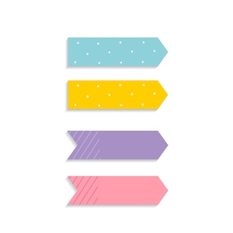Colorful sticky notes set