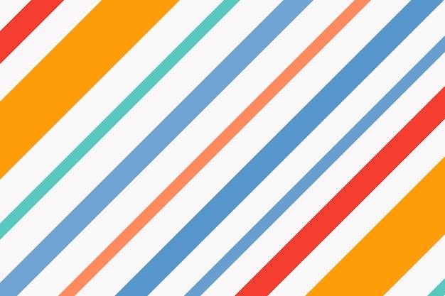 Sfondo a righe colorate, vettore di pattern carino arancione