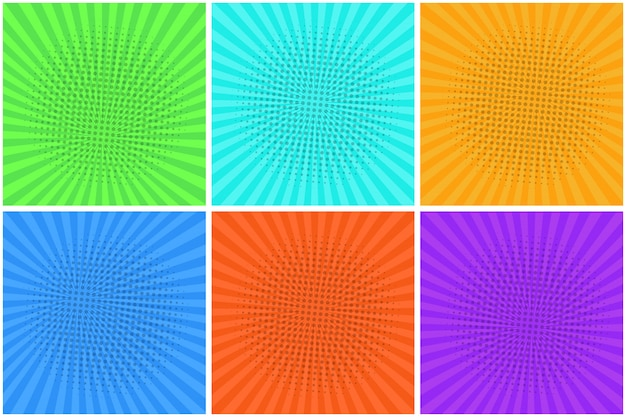 Colorful striped backgrounds for speech bubbles