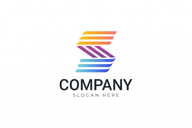 Colorful striped logotype