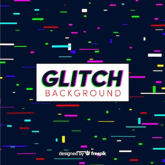 Colorful stripes glitch background