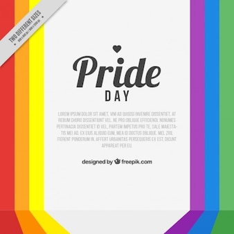 Colorful stripes pride day background
