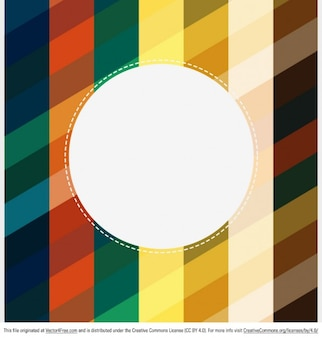 Colorful stripes with circle retro background
