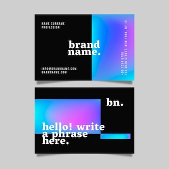 Colorful style business card template