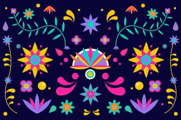 カラフルなスタイルのメキシコの背景