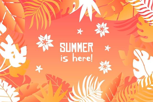 カラフルなスタイルの夏の背景