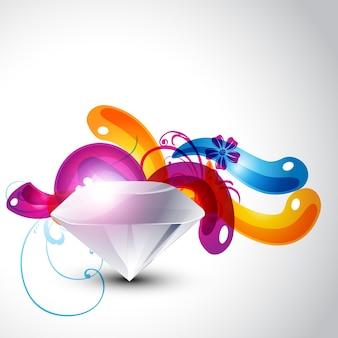 Colorful stylish diamond