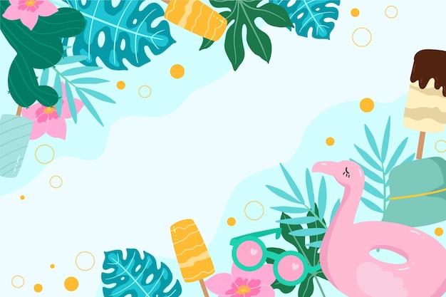 ズームのためのカラフルな夏の背景