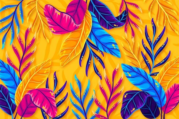 확대 / 축소를위한 다채로운 여름 배경