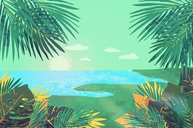 확대 / 축소에 대 한 화려한 여름 배경