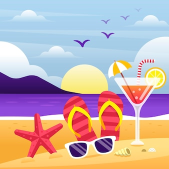 Colorful summer background illustrated