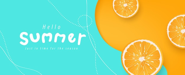 Colorful summer background layout banners design horizontal poster header for website
