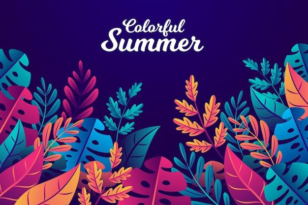 カラフルな夏の背景のテーマ