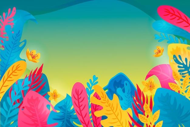 Sfondo colorato estate per lo zoom