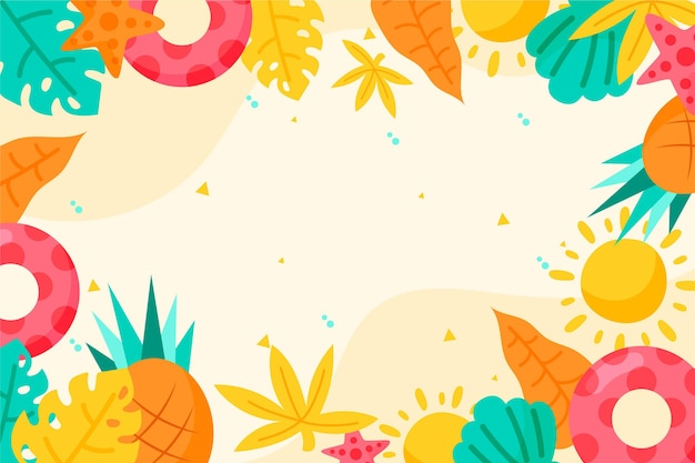 Colorful summer background for zoom