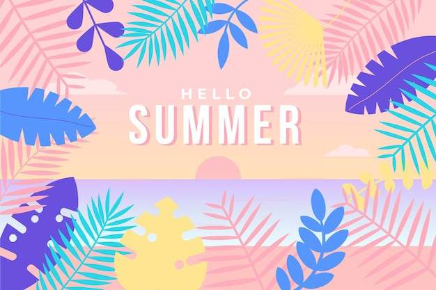 Colorful summer background