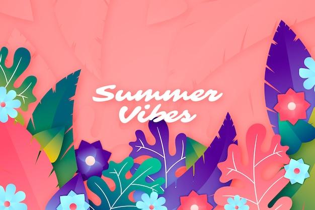 Красочный летний фон Бесплатные векторы