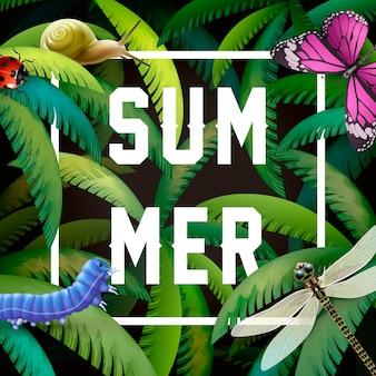 カラフルな夏のデザインコンセプト