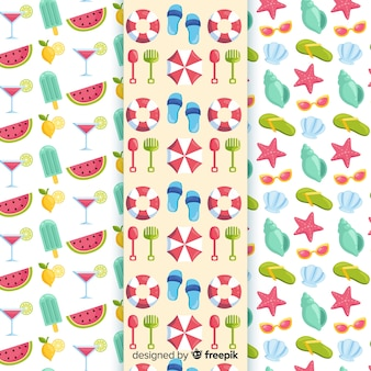 Colorful summer element pattern