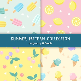 Colorful summer food pattern
