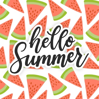 Colorful summer lettering quote