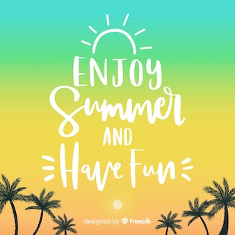Colorful summer lettering