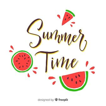 Красочная летняя надпись