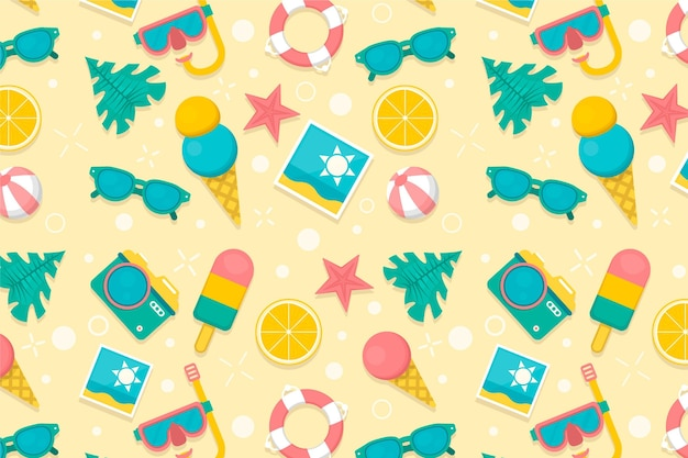 Colorful summer pattern concept