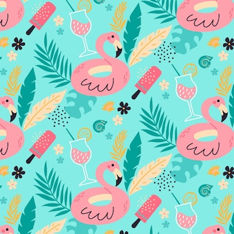 Colorful summer pattern