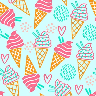 Colorful summer pattern Premium Vector