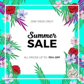 화려한 여름 판매 배경