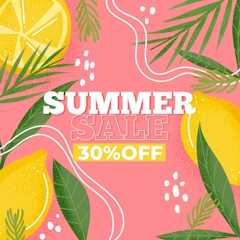 Colorful summer sale background