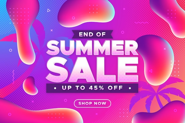 Colorful summer sale banner Free Vector