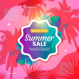 Colorful summer sale concept
