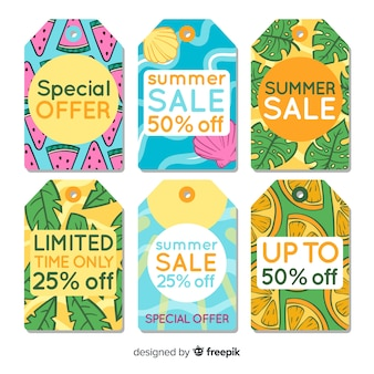 Colorful summer sale label collection