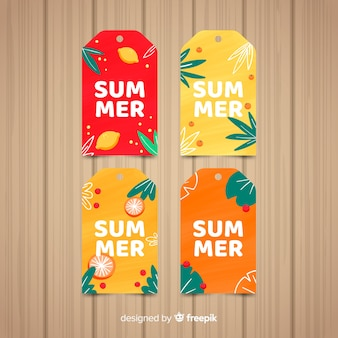 Colorful summer sale labels collection