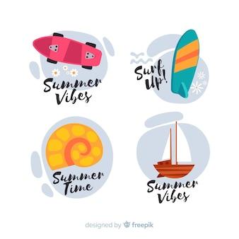 화려한 여름 판매 레이블 컬렉션